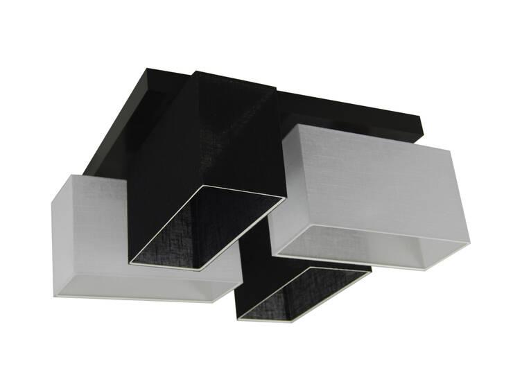Lampa sufitowa – JULS41SCWED - abażur CZARNY BIAŁY